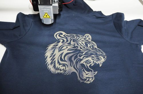 laser engraving on the shirt