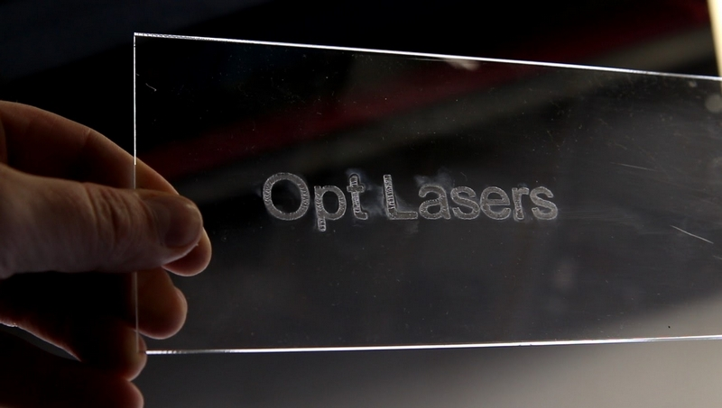 Laser Engraving Transparent Acrylic Results after Cleansing