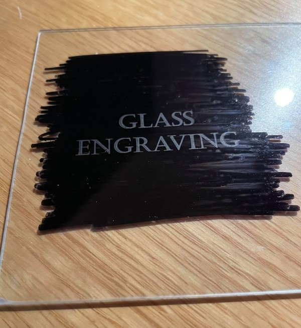 Laser Engraving Glass Using A Permanent Marker