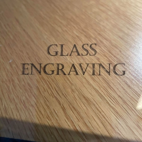 Laser Engraving Glass Using a Marker Results
