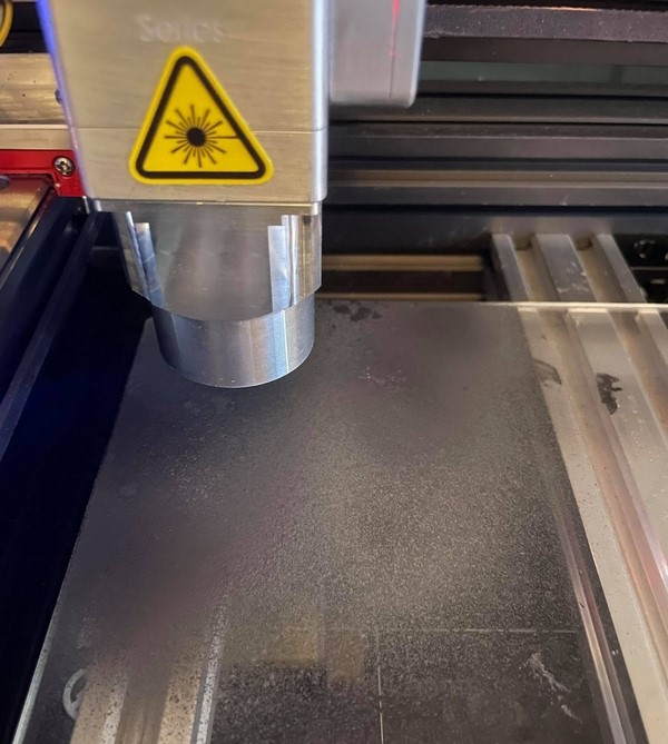Glass Laser Engraving - Laser Engraving Glass Using Acrylic Spray Paint