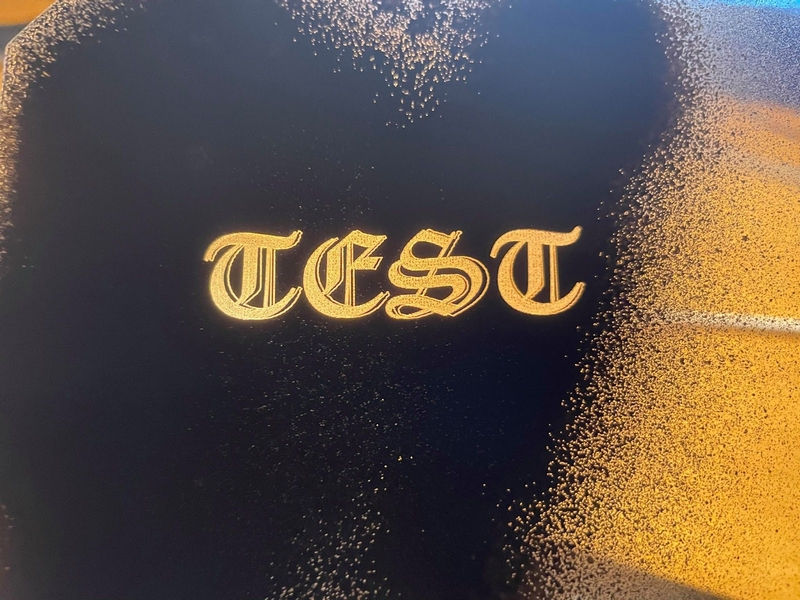 Laser Engraving Glass Using Acrylic Paint Results