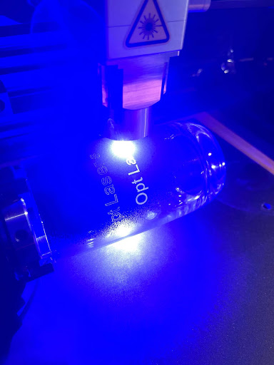 Laser Engraving Drinking Glass Using Acrylic Spray Paint