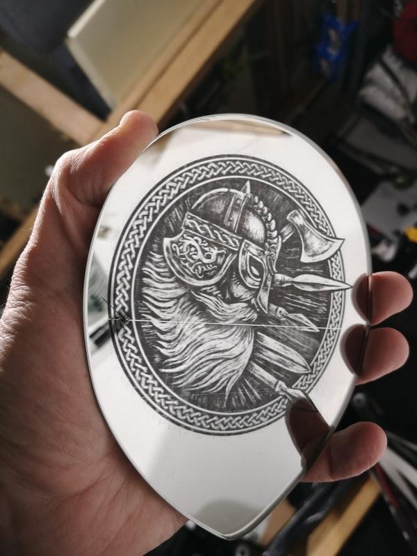 Laser Engraving Mirror Results