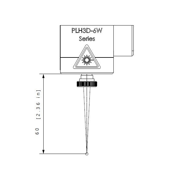 beam cone shape of the PLH3D-6W-XF laser head